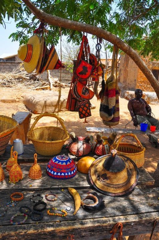Puesto de artesanía en Paga