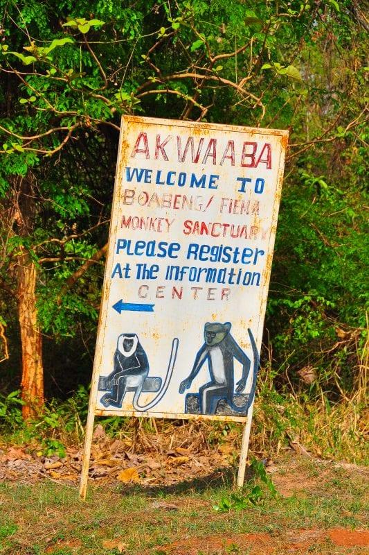 Entrada del Boabeng-Fiema Monkey Sanctuary