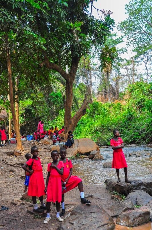 Niños en Kintampo