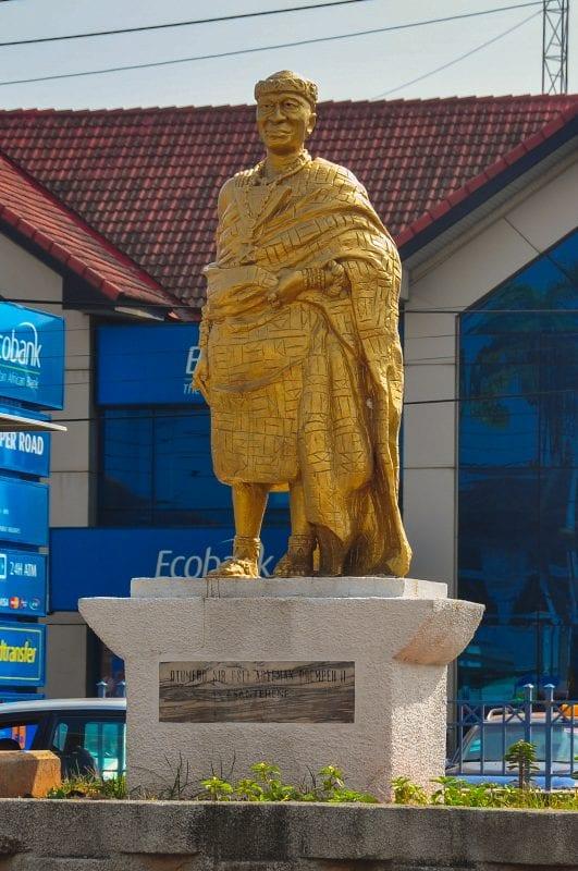Estatua de un Asantehene