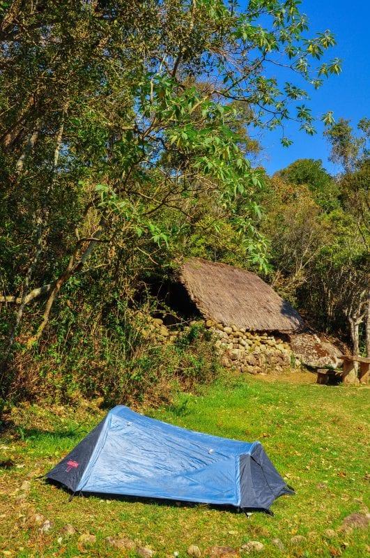 Zona de acampada en Andringitra