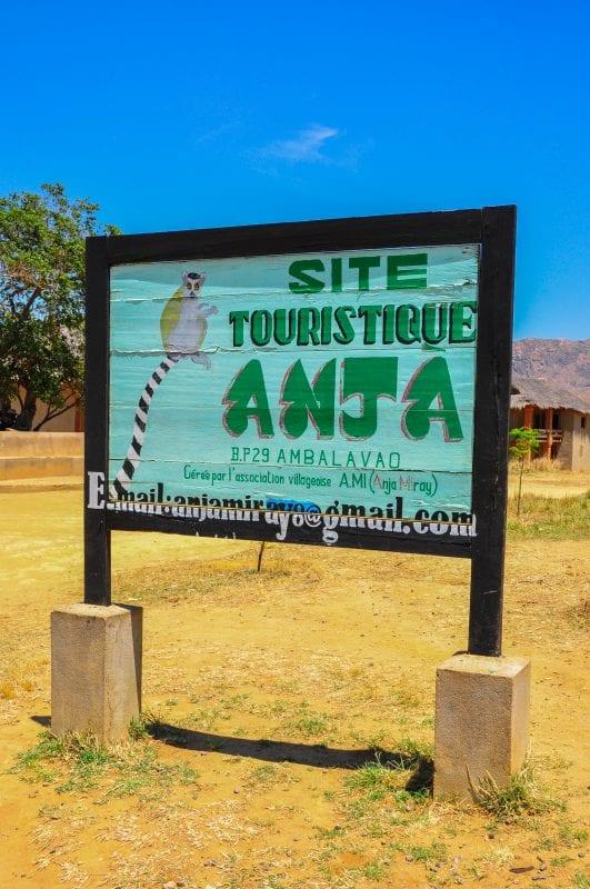 Entrada a la Reserva de Anja
